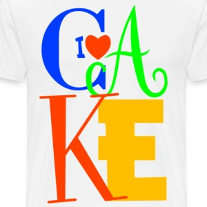 I Love Cake - Men's Premium T-Shirt
