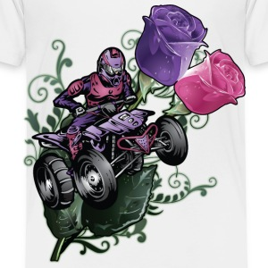 Flower Powered Quad Toddler Shirts - Toddler Premium T-Shirt