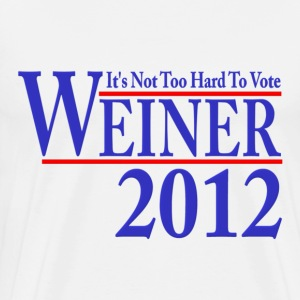 It's Not Too Hard To Vote Weiner 2012 T-Shirts - Men's Premium T-Shirt