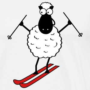 Skiing Sheep T-Shirts - Men's Premium T-Shirt