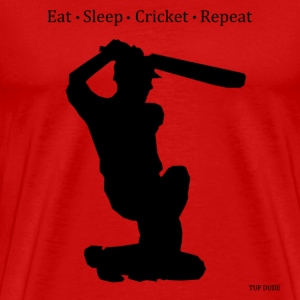 Eat Sleep Cricket Repeat T-Shirts - Men's Premium T-Shirt