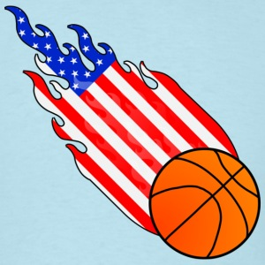 Fireball Basketball USA T-Shirts - Men's T-Shirt