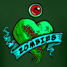 eye heart zombies green