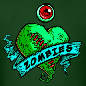 eye heart zombies green - Men's T-Shirt