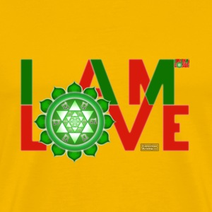 I Am Love - 2-line (Men's - heavyweight cotton) - Men's Premium T-Shirt