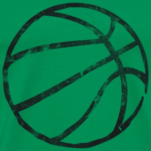 Basketball Raw Lines Used Look Retro T-Shirts - Men's Premium T-Shirt