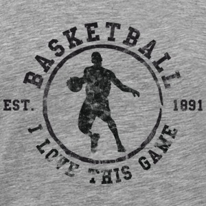 Basketball I Love This Game Used Look Retro T-Shir - Men's Premium T-Shirt