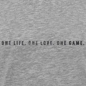 Basketball Slogan One Life, Love, Game Used Look T - Men's Premium T-Shirt