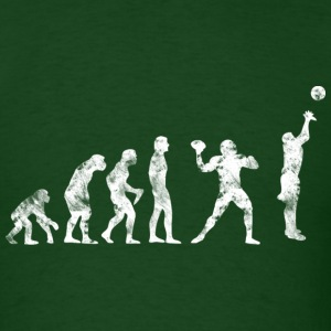 Basketball Evolution Football 3P Used Look Retro T - Men's T-Shirt