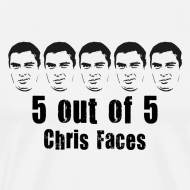 Design ~ 5 out of 5 Chris Faces Shirt