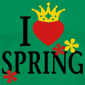 I LOVE SPRING | Men's Heavyweight T-Shirt - Men's Premium T-Shirt