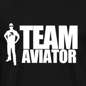 TEAM AVIATOR Black - Men's Premium T-Shirt
