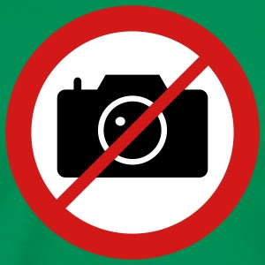 road sign camera - No pictures please T-Shirts - Men's Premium T-Shirt