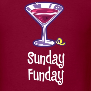 Sunday Funday burgundy - Men's T-Shirt