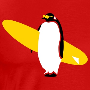 Global warming pinguin surfin' - Men's Premium T-Shirt