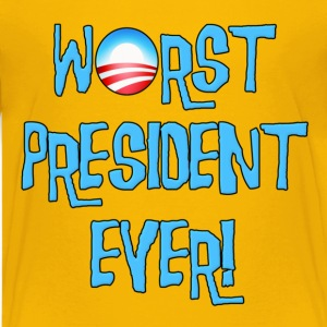 Obama Worst President Ever Kids' Shirts - Kids' Premium T-Shirt