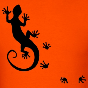 RUNNING GECKO | men's heavyweight shirt - Men's T-Shirt