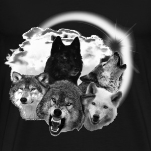 wolves moon 2 T-Shirts - Men's Premium T-Shirt