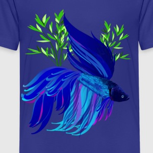 Big Blue Siamese Fighting Fish - Kids' Premium T-Shirt