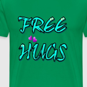 Free Hugs  and cute hearts art - Men's Premium T-Shirt