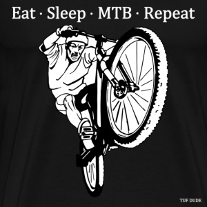 Eat Sleep MTB Repeat T-Shirts - Men's Premium T-Shirt