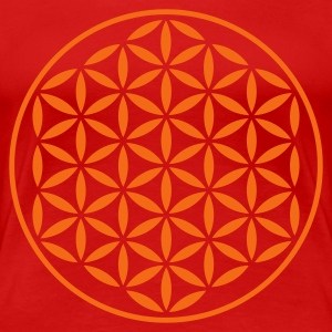 FLOWER OF LIFE - vector stamp | women's plus size  - Women's Premium T-Shirt