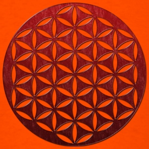FLOWER OF LIFE | red glass punched | men's heavywe - Men's T-Shirt