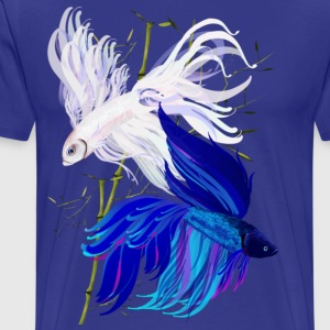 Blue n White Siamese Fighting Fish - Men's Premium T-Shirt