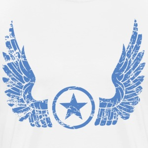 distressed wings blue T-Shirts - Men's Premium T-Shirt