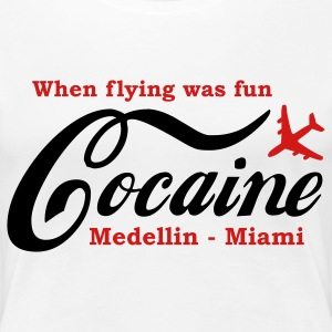 When flying was fun Plus Size - Women's Premium T-Shirt