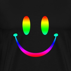 Rainbow Smiley 3 T-Shirts - Men's Premium T-Shirt