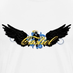 castiel wings business man style black T-Shirts