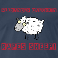 Design ~ Alexander Ovechkin Sheep NHL Hockey Shirt