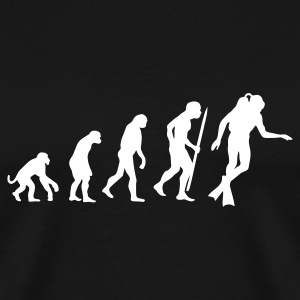 Evolution of Scuba diving T-Shirts - Men's Premium T-Shirt