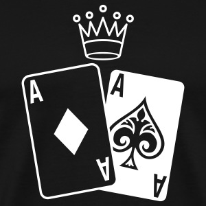 Poker Cards with Crown T-Shirts - Men's Premium T-Shirt