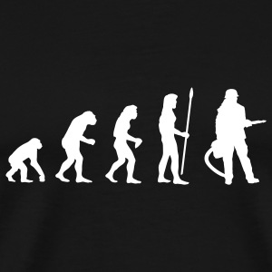 evolution_firefighter T-Shirts - Men's Premium T-Shirt