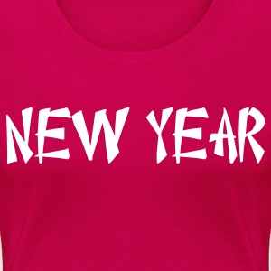 new year Chinese font Plus Size - Women's Premium T-Shirt