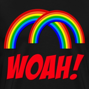Double Rainbow Woah! T-Shirts - Men's Premium T-Shirt