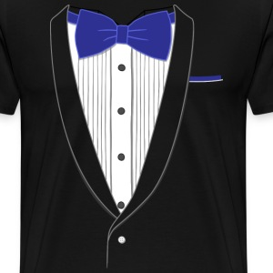Fake Tuxedo Navy Tie T-shirt - Men's Premium T-Shirt