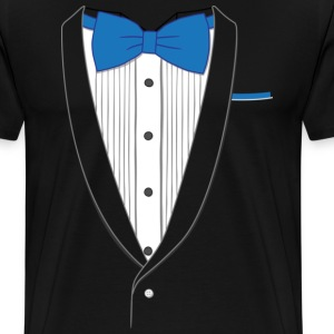 Fake Tuxedo Blue Tie T-shirt - Men's Premium T-Shirt