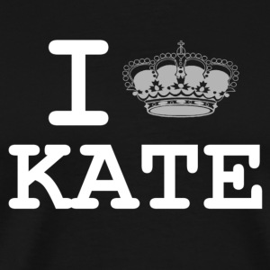 i love Kate - crown  T-Shirts - Men's Premium T-Shirt