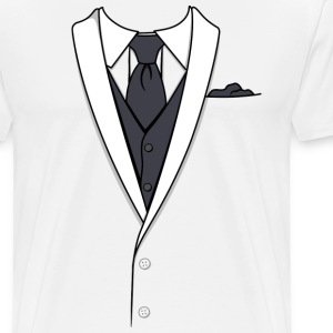 Fake White Tuxedo T-shirt - Men's Premium T-Shirt