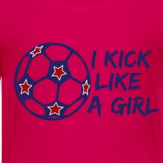 I Kick Like A Girl Soccer Kids' Shirts
