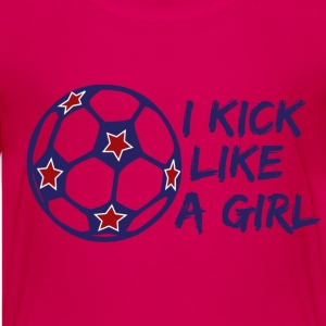 I Kick Like A Girl Soccer Kids' Shirts - Kids' Premium T-Shirt