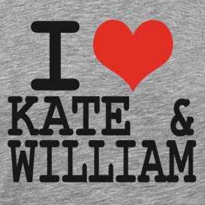 I love Kate and William T-Shirts - Men's Premium T-Shirt