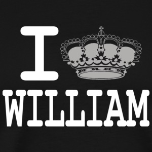 I love William - crown white T-Shirts - Men's Premium T-Shirt