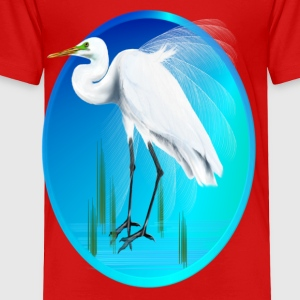 Great Egret Oval - Toddler Premium T-Shirt