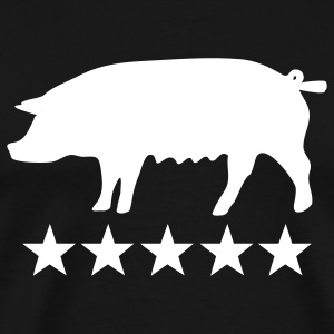 pig 5 star T-Shirts - Men's Premium T-Shirt