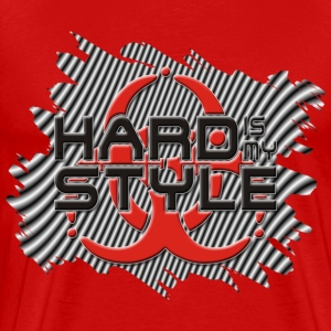 HARD IS MY STYLE - hardstyle stripes | unisex shirt - Men's Premium T-Shirt