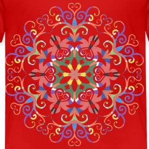 A colorful filigree Kaleidoscope - Toddler Premium T-Shirt